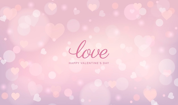 Blurred valentines day background