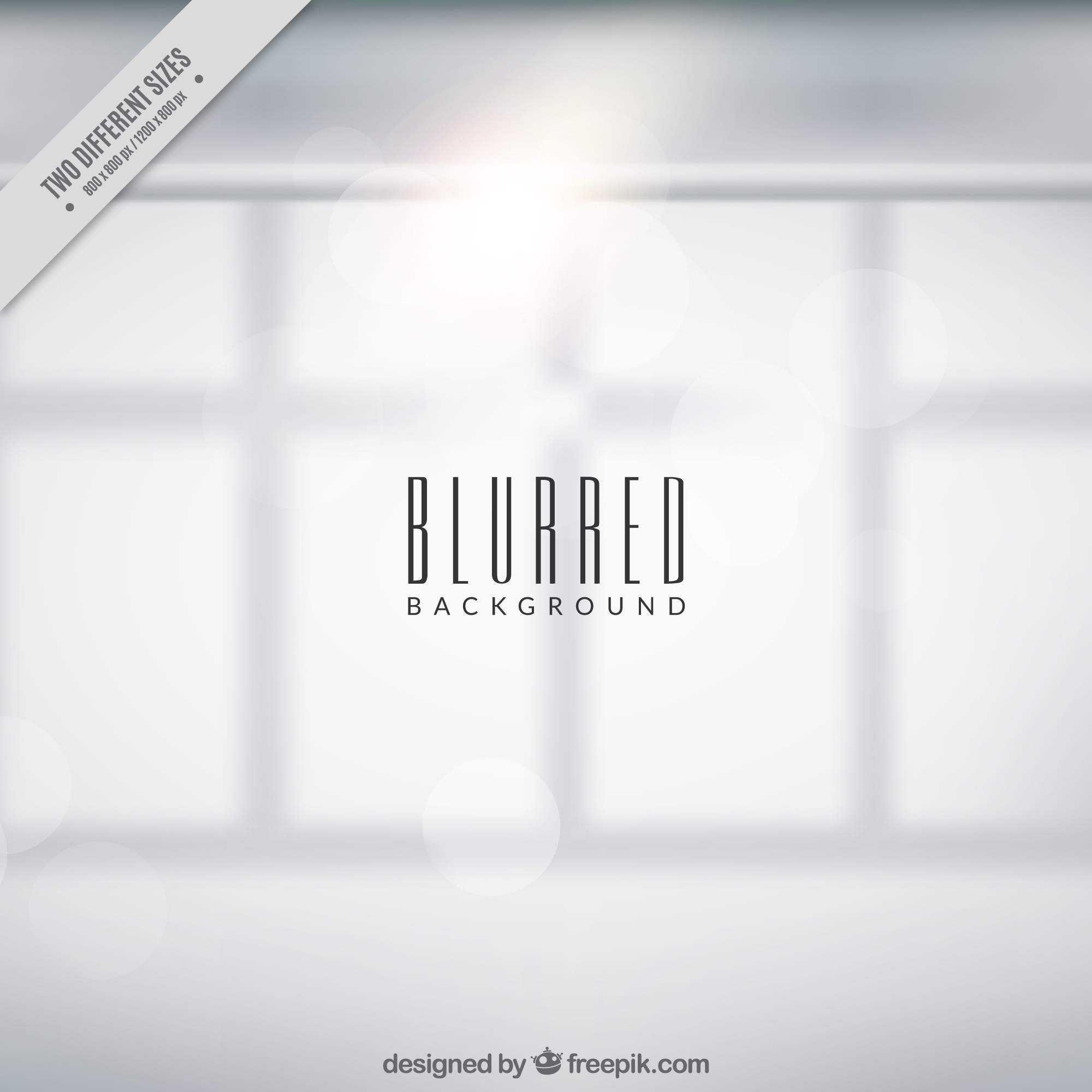 Blurred window background with bokeh effect