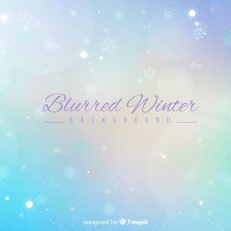 Blurred winter background