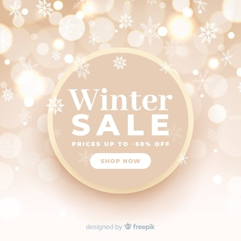 Blurred winter sale concept