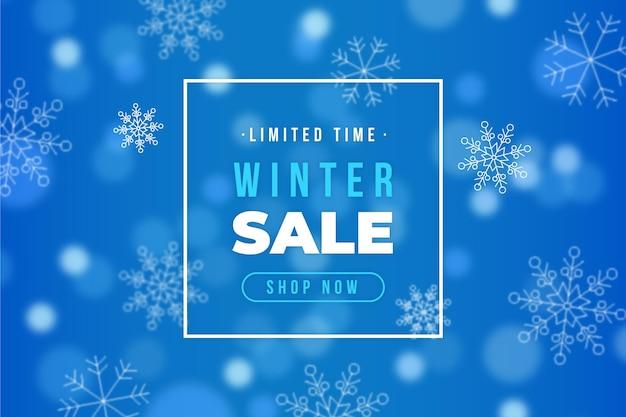 흐린 된 겨울 판매 개념