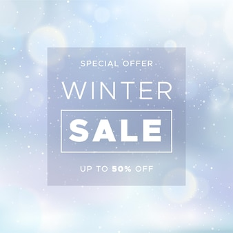 Blurred winter sale