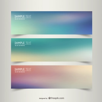 Blurry banner templates