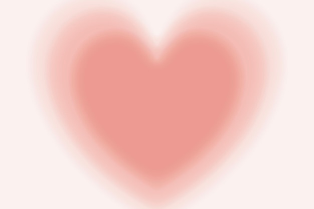 Blurry peach heart background vector in gradient vintage style
