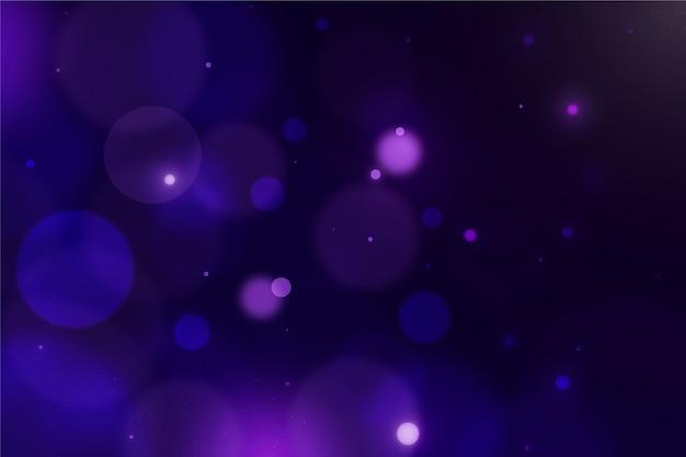 Размытые фиолетовые боке блики фон