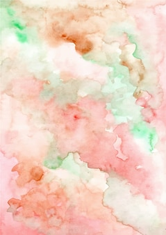 Blush green abstract watercolor texture background