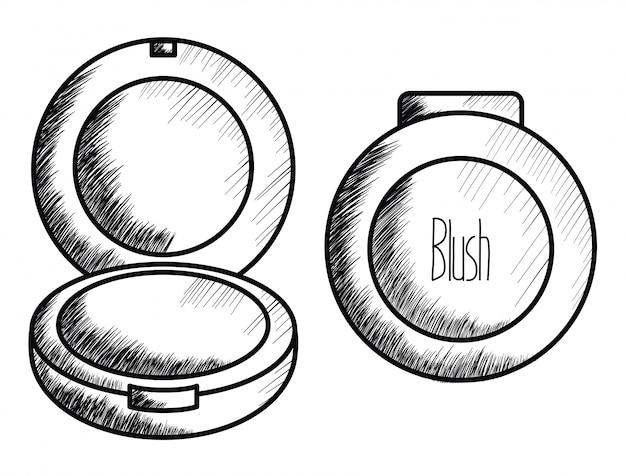 홍당무 메이크업 드로잉 아이콘