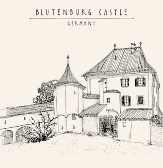 Blutenburg castle background design