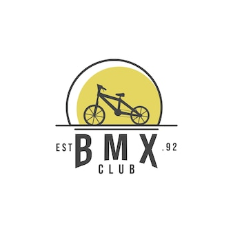 Bmx club logo modern