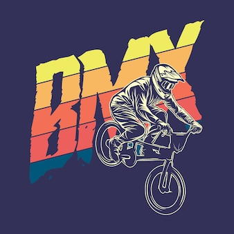 Bmx graphic illustration