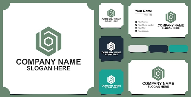 Bn initial based alphabet  and business card vector