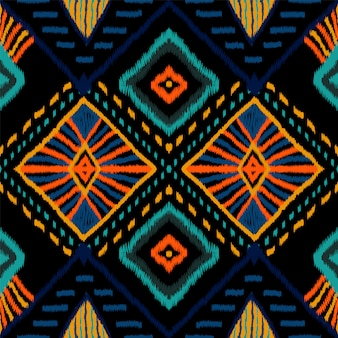 コーラルレトロタイダイ。インディゴカーペットのシームレスパターン。インドネシアのカーペット自由bo放に生きるテクスチャ。クリムゾンジャパンリピートオーナメント。バティックアフリカを繰り返します。