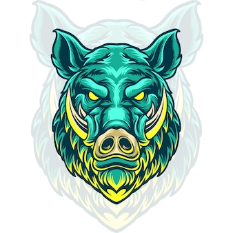 Boar head illustration