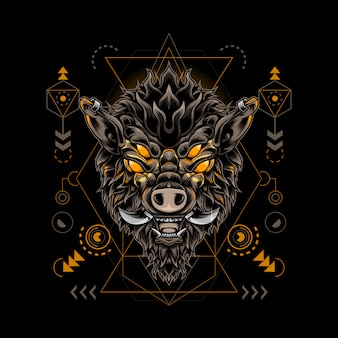 Boar monster sacred geometry