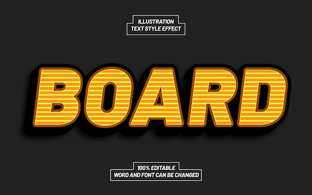 Board 3d bold text style effect