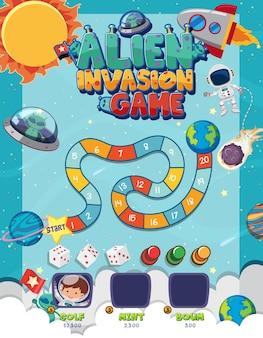 Настольная игра для детей в шаблоне в стиле фэнтези