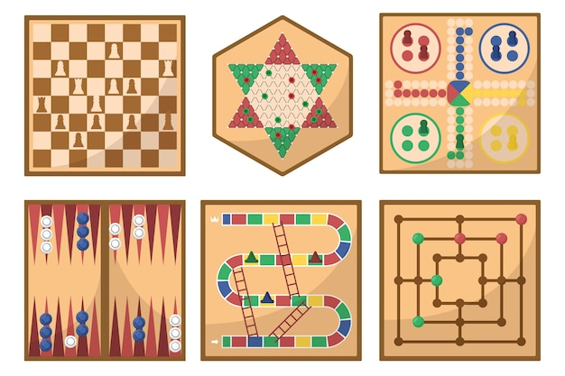 Board game illustrations collection