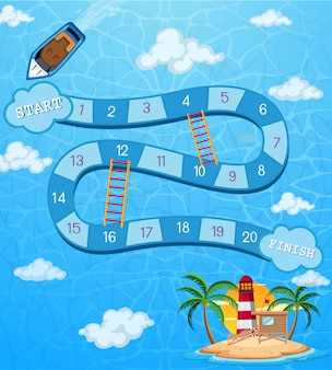 Board game ocean template