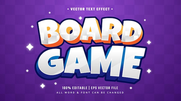Board grame 3d text style effect. editable illustrator text style.