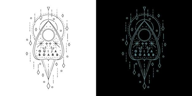 Доска ouija geometric tattoo monoline design