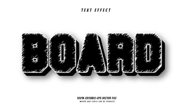 Доска текстовый эффект дизайн вектор