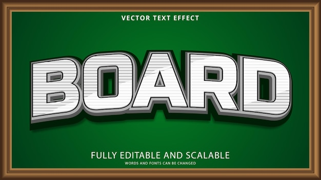 Board text effect editable eps file