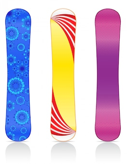 Boards for snowboarding