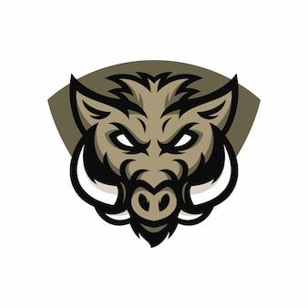 Кабаны - векторный логотип / значок иллюстрации талисман