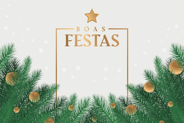 Boas festas with tree branches