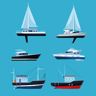 Boat collection set