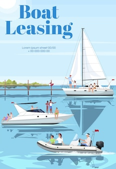 Boat leasing poster template