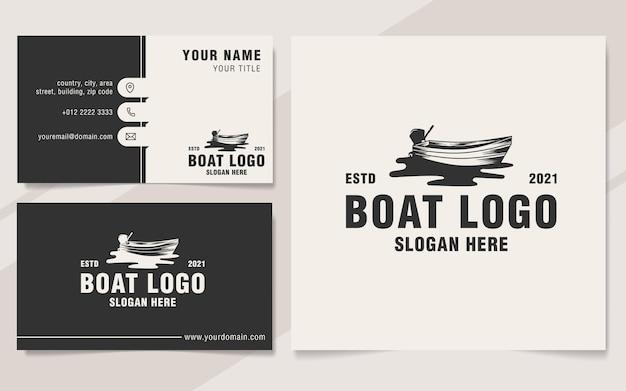 Boat logo template monogram style