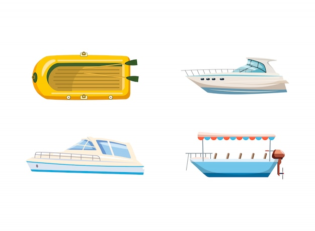 Boat set. cartoon set of boat