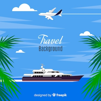 Boat travel background
