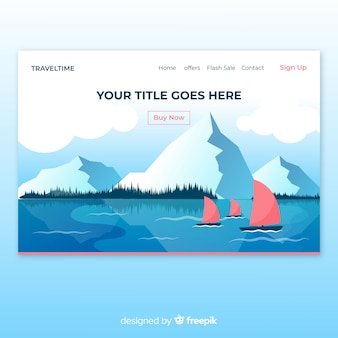 Boats in a lake landing page