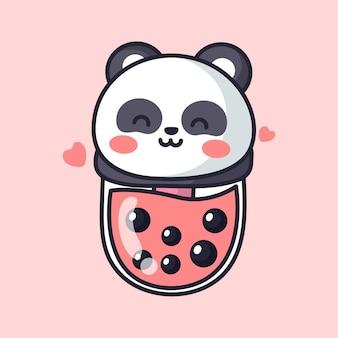 Boba panda is cute and adorable