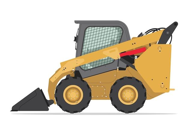 ボブキャットコンパクトトラックローダーの側面図