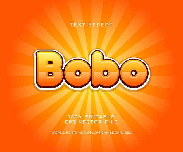 Bobo shiny editable 텍스트 효과