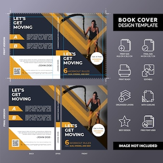 Body building tutorial book cover template