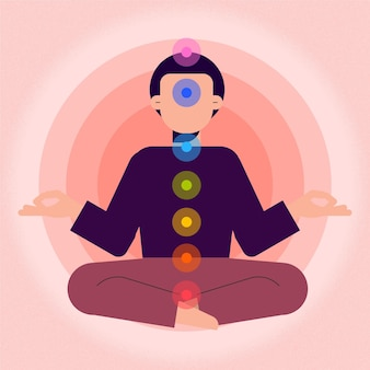 Body chakras mystical concept