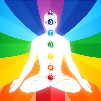 Body chakras with focal points