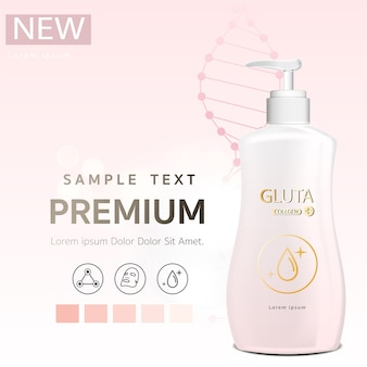 Body lotion pink glutathione pack with