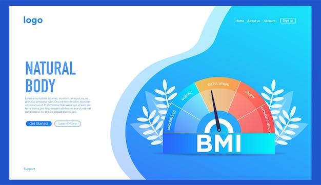 Индекс массы тела и концепция фитнес-упражнений управление индексом массы тела абстрактное понятие