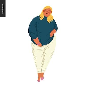 신체 긍정적-여성 초상화