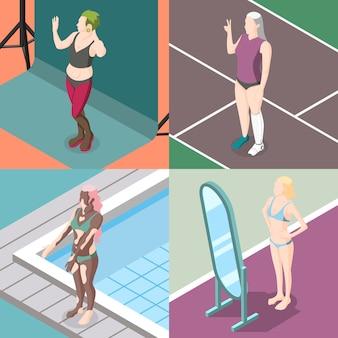 Коллекция движений позитивности тела