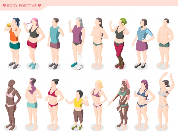 Body positivity movement and diversity set