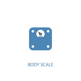Body scale concept 2 colored icon. simple blue element illustration. body scale concept symbol design. can be used for web and mobile ui/ux
