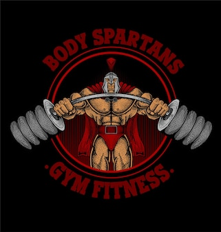 Body spartan gym logo
