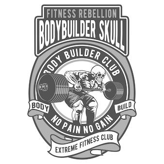 Bodybuilder skull
