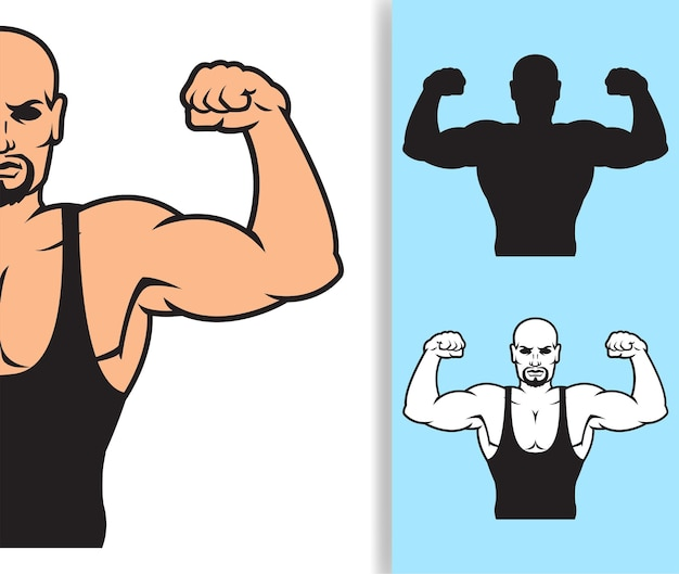 Bodybuilder strong man